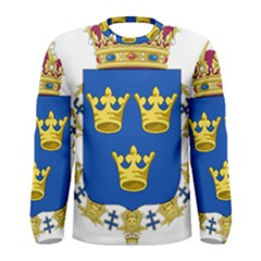 Lesser Coat Of Arms Of Sweden Men s Long Sleeve Tee