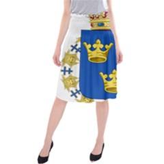 Lesser Coat Of Arms Of Sweden Midi Beach Skirt