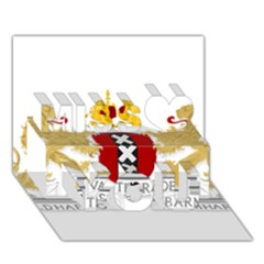 Amsterdam Coat Of Arms  Miss You 3d Greeting Card (7x5)