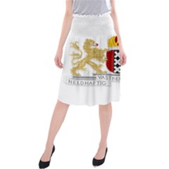Amsterdam Coat Of Arms  Midi Beach Skirt
