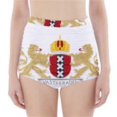 Amsterdam Coat Of Arms  High-Waisted Bikini Bottoms
