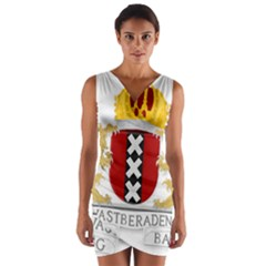 Amsterdam Coat Of Arms  Wrap Front Bodycon Dress