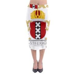 Amsterdam Coat Of Arms  Midi Pencil Skirt