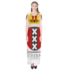 Amsterdam Coat Of Arms  Short Sleeve Maxi Dress