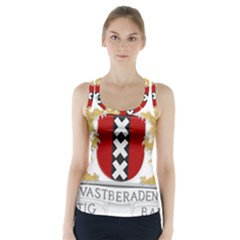 Amsterdam Coat Of Arms  Racer Back Sports Top