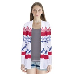 Flag Of Cincinnati Drape Collar Cardigan