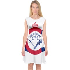 Flag Of Cincinnati Capsleeve Midi Dress