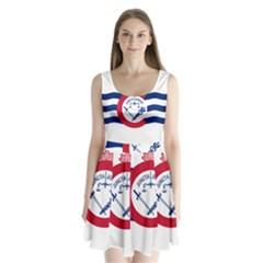 Flag Of Cincinnati Split Back Mini Dress