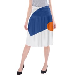 Roundel Of The Royal Netherlands Air Force Midi Beach Skirt