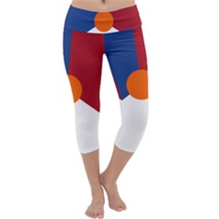 Roundel Of The Royal Netherlands Air Force Capri Yoga Leggings