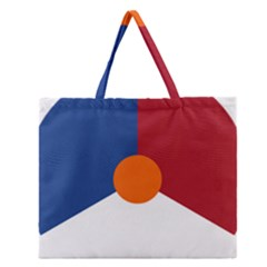 Roundel Of The Royal Netherlands Air Force Zipper Large Tote Bag