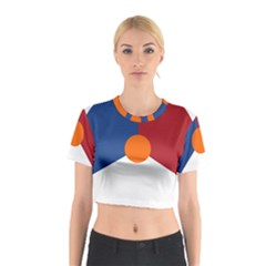 Roundel Of The Royal Netherlands Air Force Cotton Crop Top