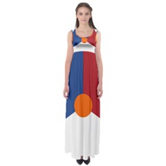 Roundel Of The Royal Netherlands Air Force Empire Waist Maxi Dress
