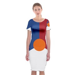 Roundel Of The Royal Netherlands Air Force Classic Short Sleeve Midi Dress