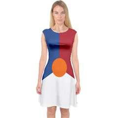 Roundel Of The Royal Netherlands Air Force Capsleeve Midi Dress