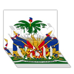 Coat Of Arms Of Haiti Miss You 3D Greeting Card (7x5)