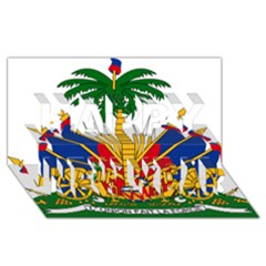 Coat Of Arms Of Haiti Happy New Year 3D Greeting Card (8x4)