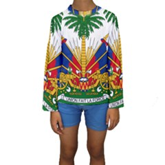 Coat Of Arms Of Haiti Kid s Long Sleeve Swimwear