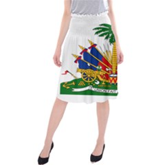 Coat Of Arms Of Haiti Midi Beach Skirt