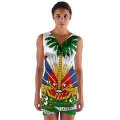 Coat Of Arms Of Haiti Wrap Front Bodycon Dress