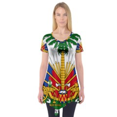 Coat Of Arms Of Haiti Short Sleeve Tunic