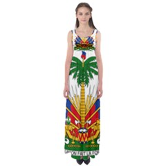 Coat Of Arms Of Haiti Empire Waist Maxi Dress