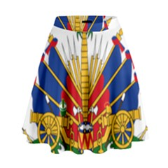 Coat Of Arms Of Haiti High Waist Skirt