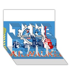 Flag Of Milwaukee TAKE CARE 3D Greeting Card (7x5)