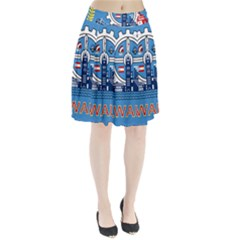 Flag Of Milwaukee Pleated Skirt