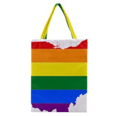 Lgbt Flag Map Of Ohio  Classic Tote Bag