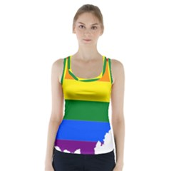 Lgbt Flag Map Of Ohio  Racer Back Sports Top