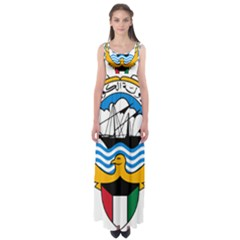 Emblem Of Kuwait  Empire Waist Maxi Dress
