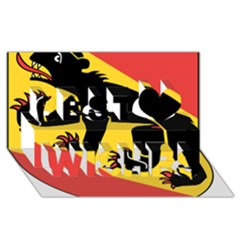 Coat Of Arms Of Bern Canton  Best Wish 3D Greeting Card (8x4)