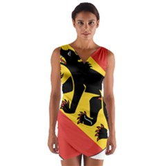 Coat Of Arms Of Bern Canton  Wrap Front Bodycon Dress