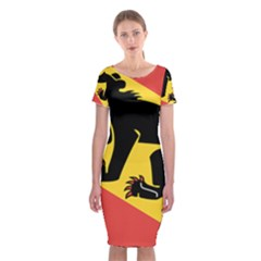 Coat Of Arms Of Bern Canton  Classic Short Sleeve Midi Dress