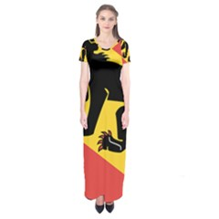 Coat Of Arms Of Bern Canton  Short Sleeve Maxi Dress