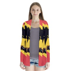 Coat Of Arms Of Bern Canton  Drape Collar Cardigan