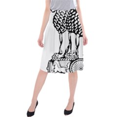 Emblem Of India Midi Beach Skirt