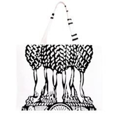 Emblem Of India Large Tote Bag