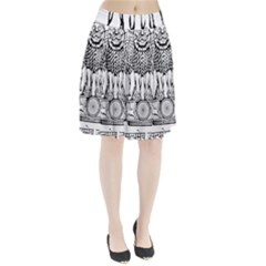 Emblem Of India Pleated Skirt