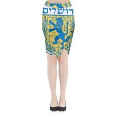 Emblem Of Jerusalem Midi Wrap Pencil Skirt