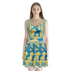 Emblem Of Jerusalem Split Back Mini Dress