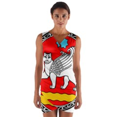 Seal Of Samarkand  Wrap Front Bodycon Dress