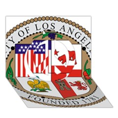 City Of Los Angeles Seal Peace Sign 3D Greeting Card (7x5)