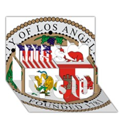 City Of Los Angeles Seal Miss You 3D Greeting Card (7x5)