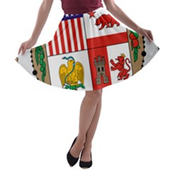 City Of Los Angeles Seal A-line Skater Skirt