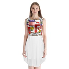 City Of Los Angeles Seal Sleeveless Chiffon Dress