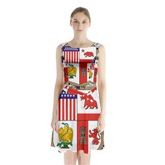 City Of Los Angeles Seal Sleeveless Waist Tie Dress