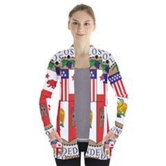 City Of Los Angeles Seal Women s Open Front Pockets Cardigan(P194)