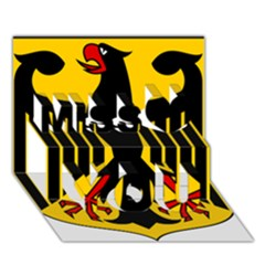 Coat Of Arms Of Germany Miss You 3D Greeting Card (7x5)